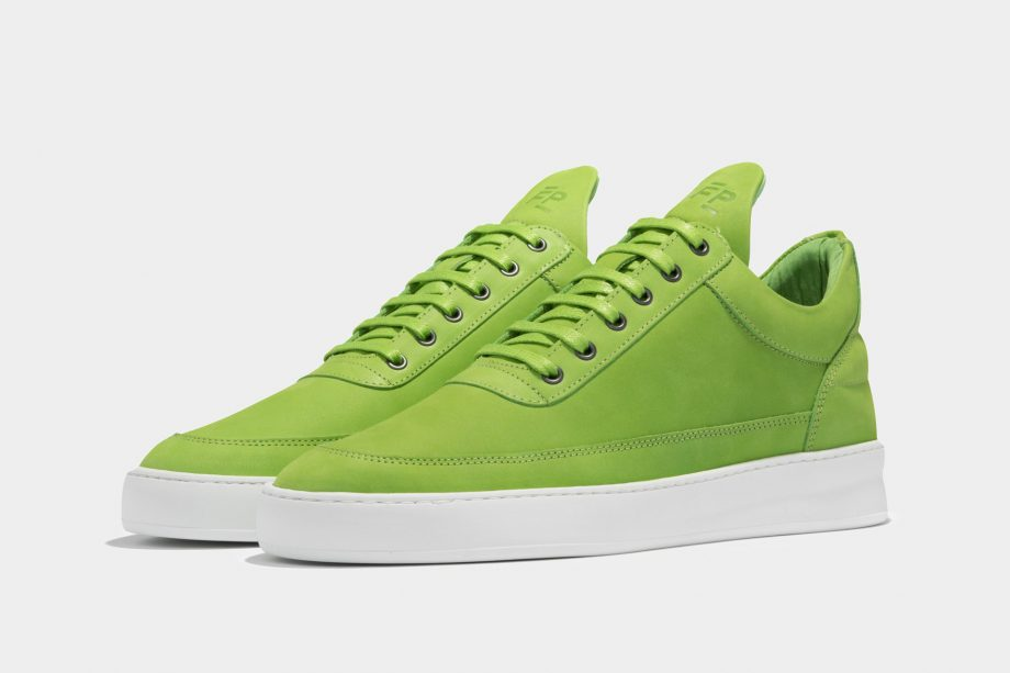 Low Top Plain Lane Green  by Filling Pieces