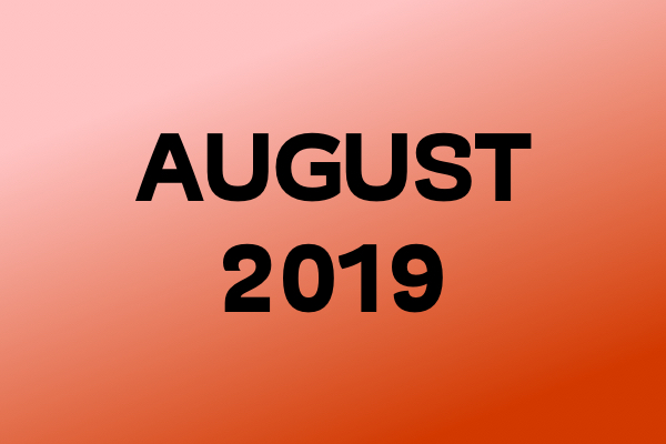 Links Of The Month – August 2019