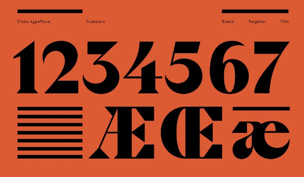 Cako typeface by Violaine & Jeremy