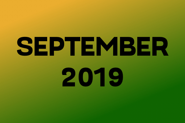Links Of The Month – September 2019