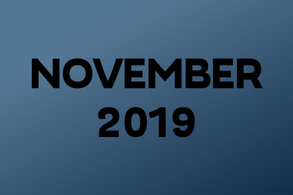 Links Of The Month – November 2019