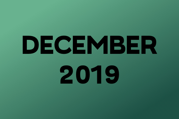 Links Of The Month – December 2019
