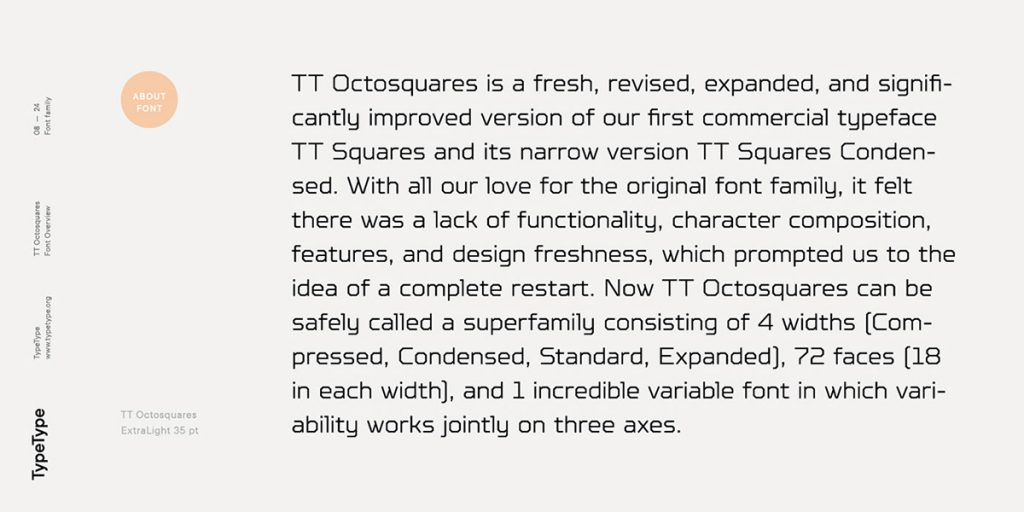 TT Octosquares by TypeType