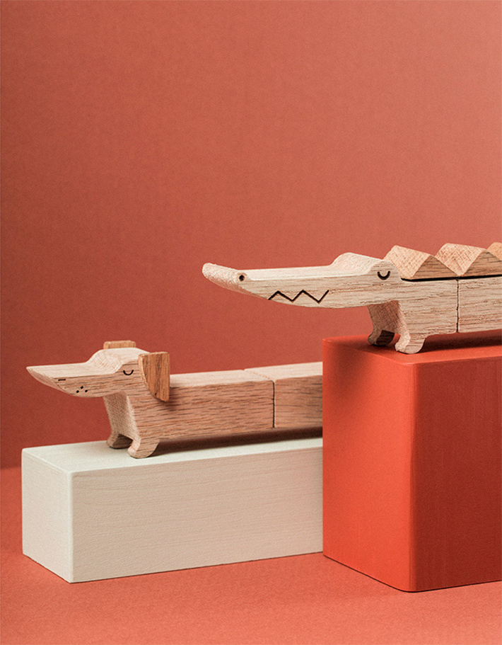 Long Animals - Wooden Toy