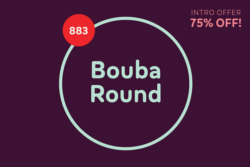 Bouba Round by HvD Fonts Intro Offer