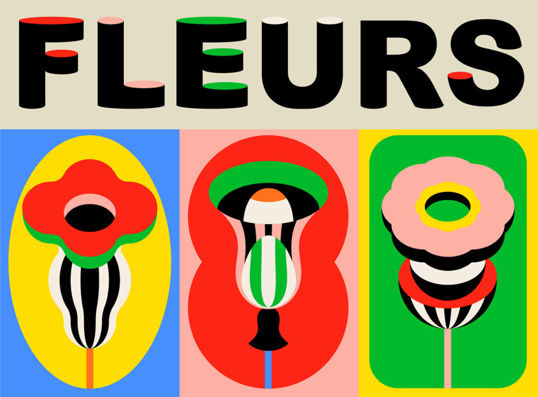 FLEURS - Pop art flowers by Laura Normand